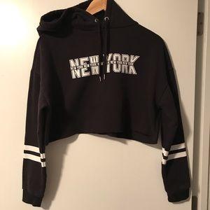 H&M Crop New York sweatshirt